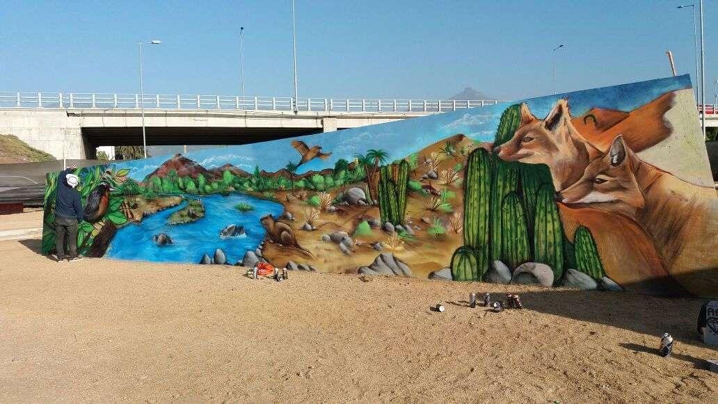 mural de ecoladrillos